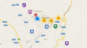 Mappa turistica di Ragusa