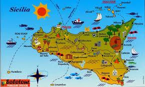 Cartina Sicilia Turistica.Mappa Delle Citta Di Sicilia Turismo Social E Multimedia
