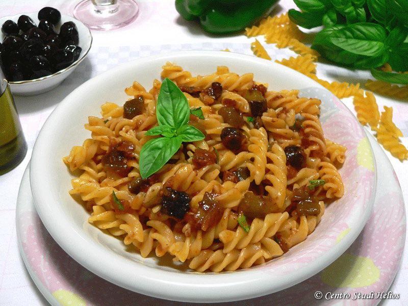 Fusilli alle olive nere