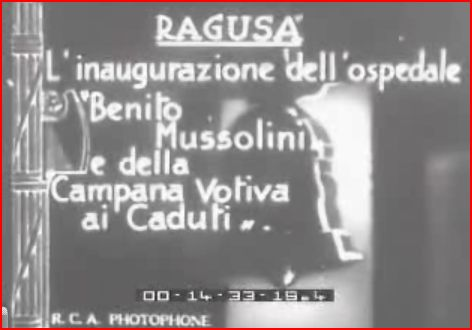 Ragusa The inauguration of the hospital 1933