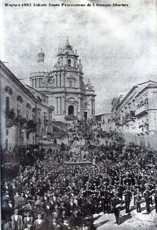 Festa di San Giorgio Ragusa Ibla 1882
