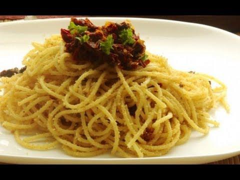 Spaghetti al pomodoro secco  capuliato